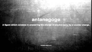 What does antanagoge mean