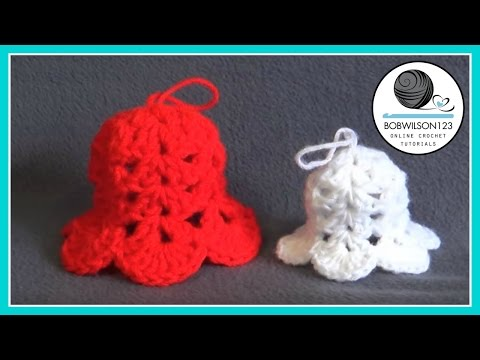 Christmas Bell Ornament Crochet Tutorial