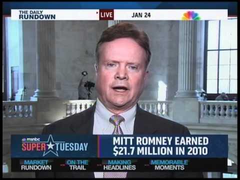 Jan. 24, 2012: Senator Jim Webb Discusses Economic Fairness and Capital Gains Taxes with Chuck Todd