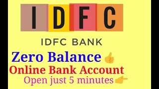 Open Online IDFC Bank Account 🤗 Just 5 Minutes.