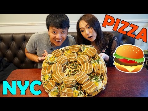 CHEESE BURGER & KOREA Pizza! New York Pizza Tour Part 2