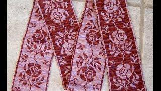 Вязание на спицах. Набор петель для двойного цветного жаккарда.