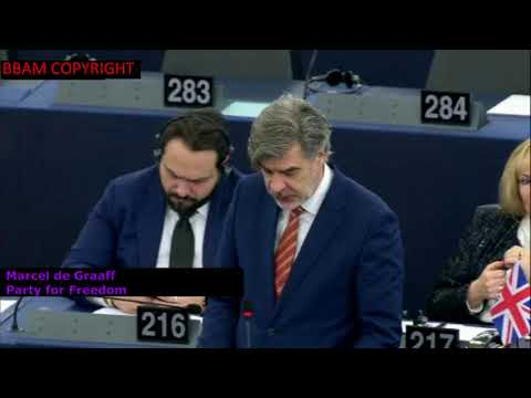 "ANTI-EU MEPs DENOUNCE BRITISH PM ""THERESA THE APPEASER"" & VERHOFSTADT 14 Dec.2017"