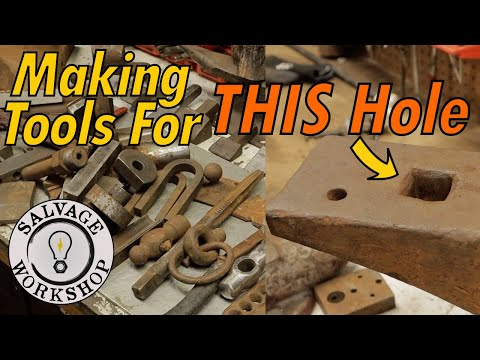 Fabri-Cobbling Tools For The ANVIL ~ Blacksmithing Tools From Random Stuff Around The Shop