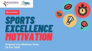 #LIVEWebinar | Sports Excellence Motivation