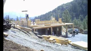 Timelapse of building a log house