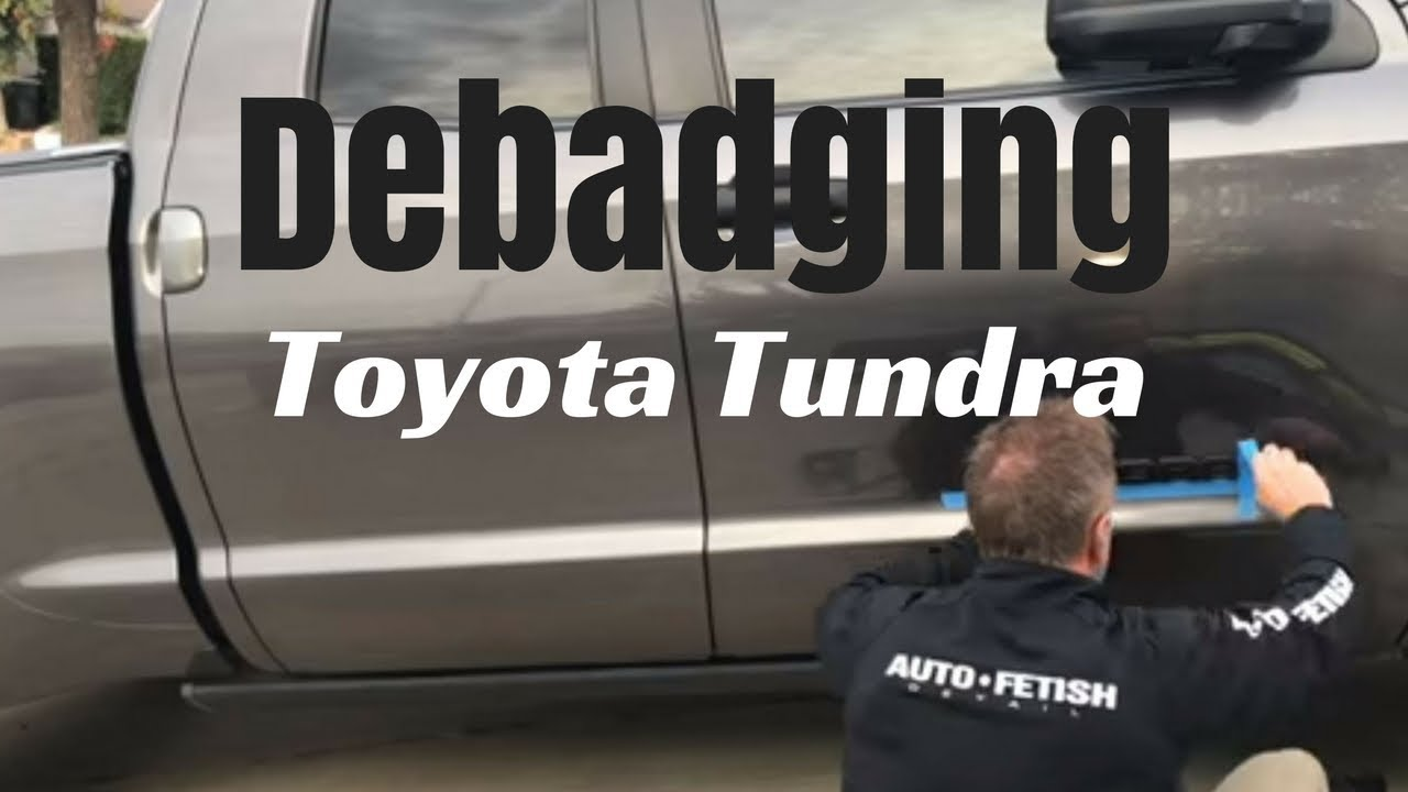 Debadging toyota tundra replacing chrome emblems with black