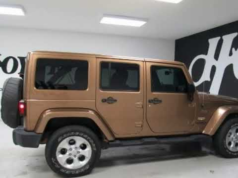 2015 Jeep Wrangler Unlimited 4X4 4 Door SUV Sahara Gold For Sale Near  Greenville