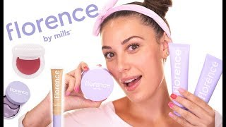 I TRIED FLORENCE BY MILLS!   Skincare Routine & Natural Makeup Look   Victoria Lyn