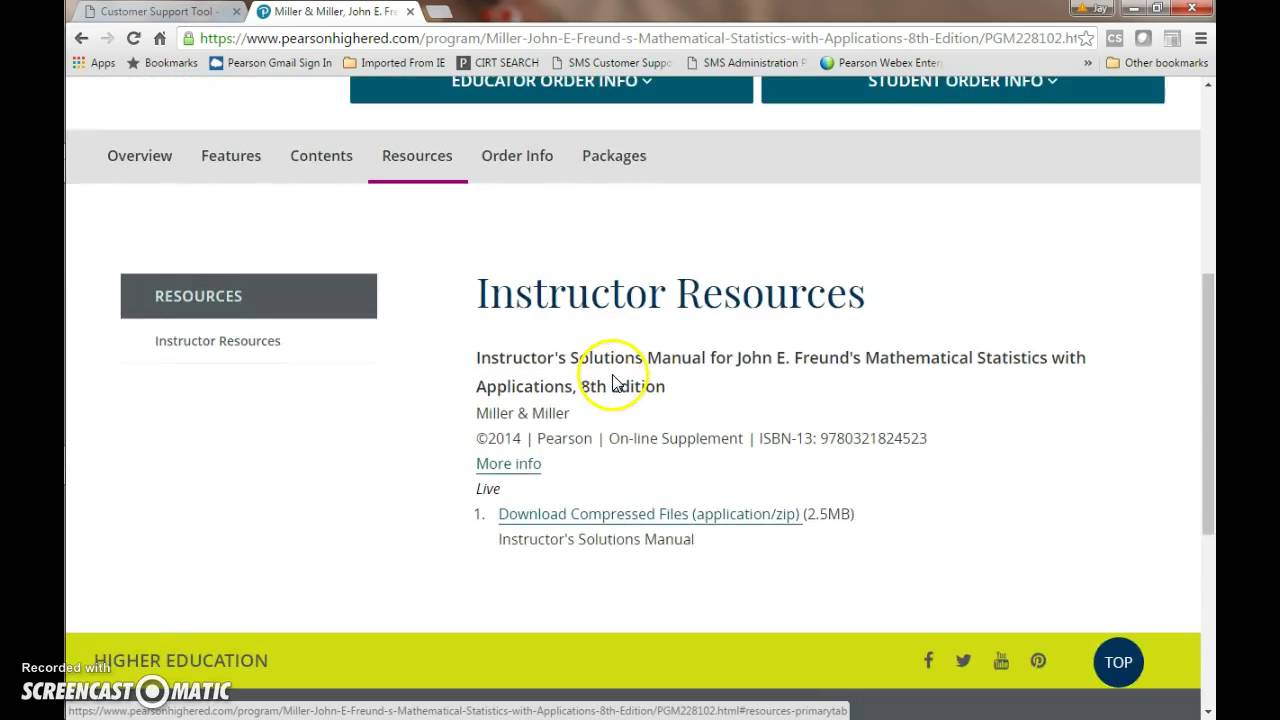 pearson instructor login and password