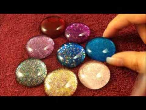 make nail polish gems