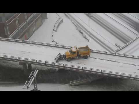 Thumbnail: 1st snow storm in Halifax stuck plow and bus