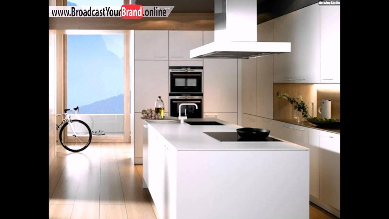 Sclichte Küche Gestalten Ideen Weiß Küchentheke - YouTube
