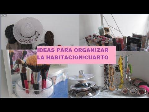 Ideas para organizar la habitacion cuarto youtube - Como decorar una habitacion pequena ...