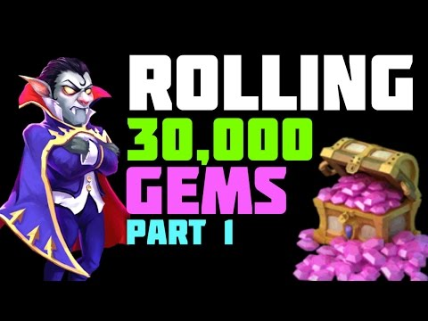 Castle Clash: Rolling 30,000 Gems For Dracula - Part 1 of 2