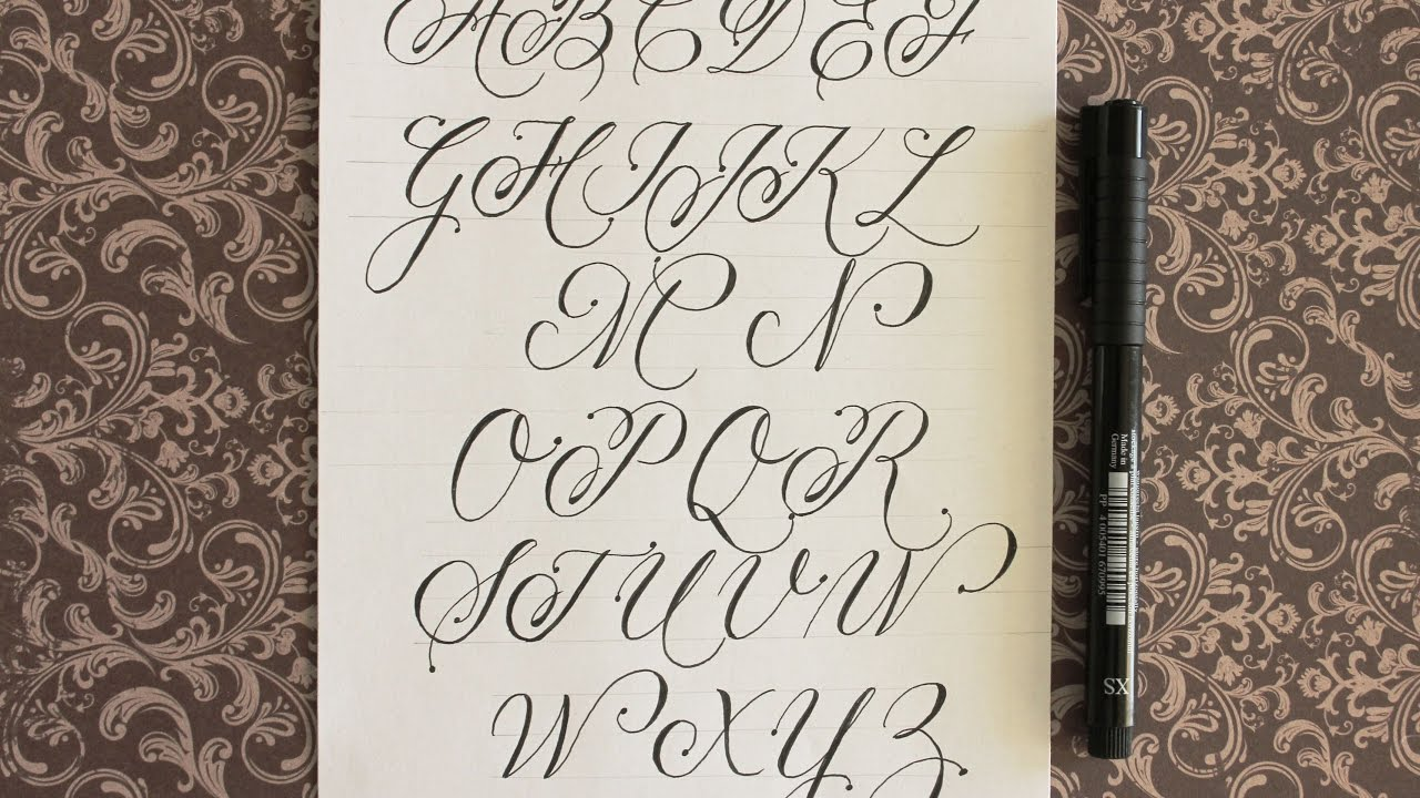 how to write cursive fancy letters (calligraphy) - for beginners