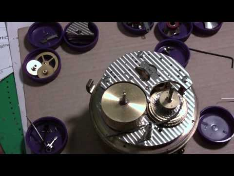 How I take apart a marine chronometer, Hamilton, Model 21, Part 2 of 2