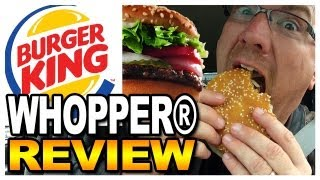 Burger King Whopper Sandwich Meal Review