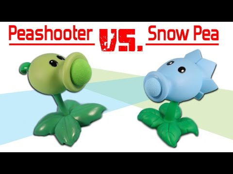 Plants vs. Zombies Pea Shooter Popper vs. Snow Pea Shooter Popper
