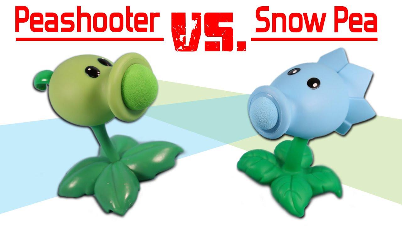 Plants vs. Zombies Pea Shooter Popper vs. Snow Pea Shooter ...