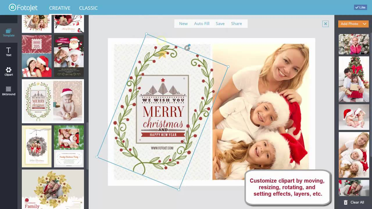 How to Make a Personalized Christmas Card Online - YouTube