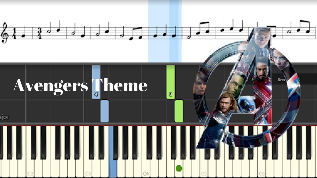 Avengers - Infinity War Theme Piano Cover - Easy Tutorial + Sheet Music
