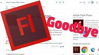 Прекращение поддержки Adobe Flash