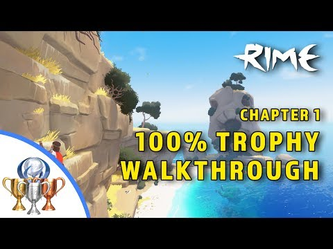 RiME 100% Trophy Walkthrough (Chapter 1 - Denial) Collectibles - Outfits, Emblems, Toys, Statues....