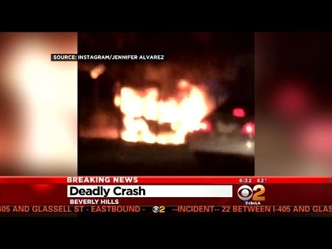 Witnesses Unsuccessfully Try To Pull Driver From Fiery Car Crash In Beverly Hills