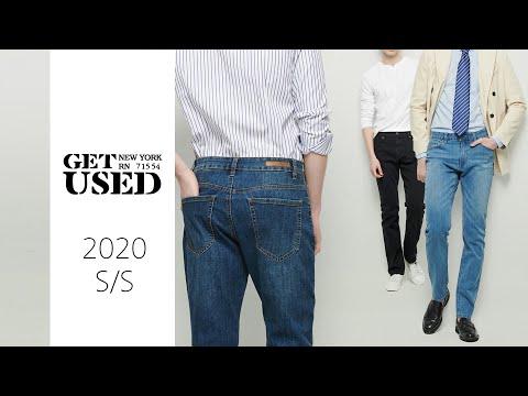 2020 GET USED 스트레이트핏 데님 3종 세트 (남성용) (HGOSDZB107P) - GET USED
