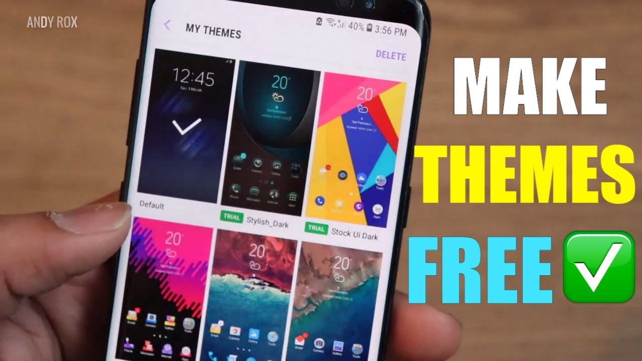 How To Get Samsung Paid Themes For Free No App No Root Explained 2018 Youtube