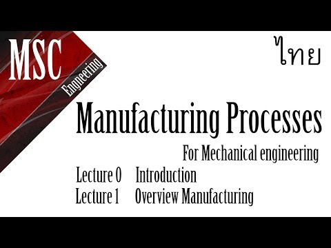 Manufacturing Processes I | Lec1 |TH