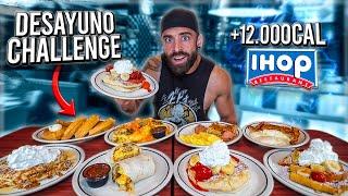 EL DESAYUNO AMERICANO con MÁS CALORIAS de EEUU (+12.000 CALORIAS) 🥞 *Breakfast Challenge*