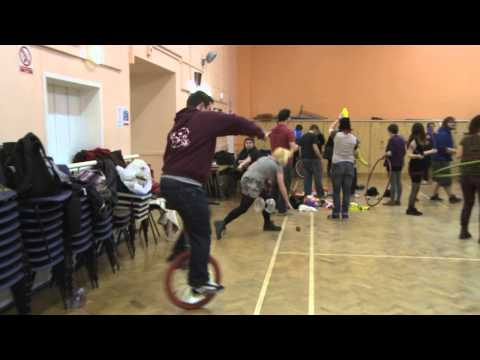 Doing what we do best! - UPSOCS (Portsmouth Uni Circus Skills Society)