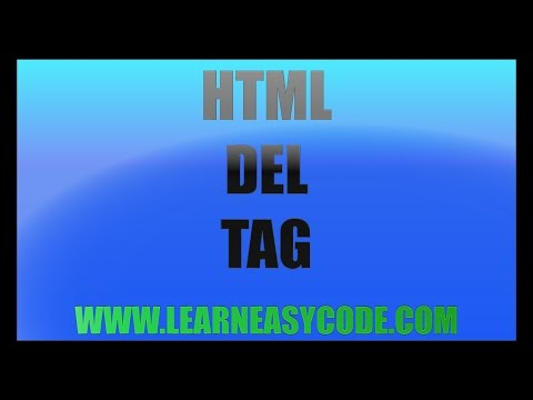 HTML Del Tag - Learn HTML
