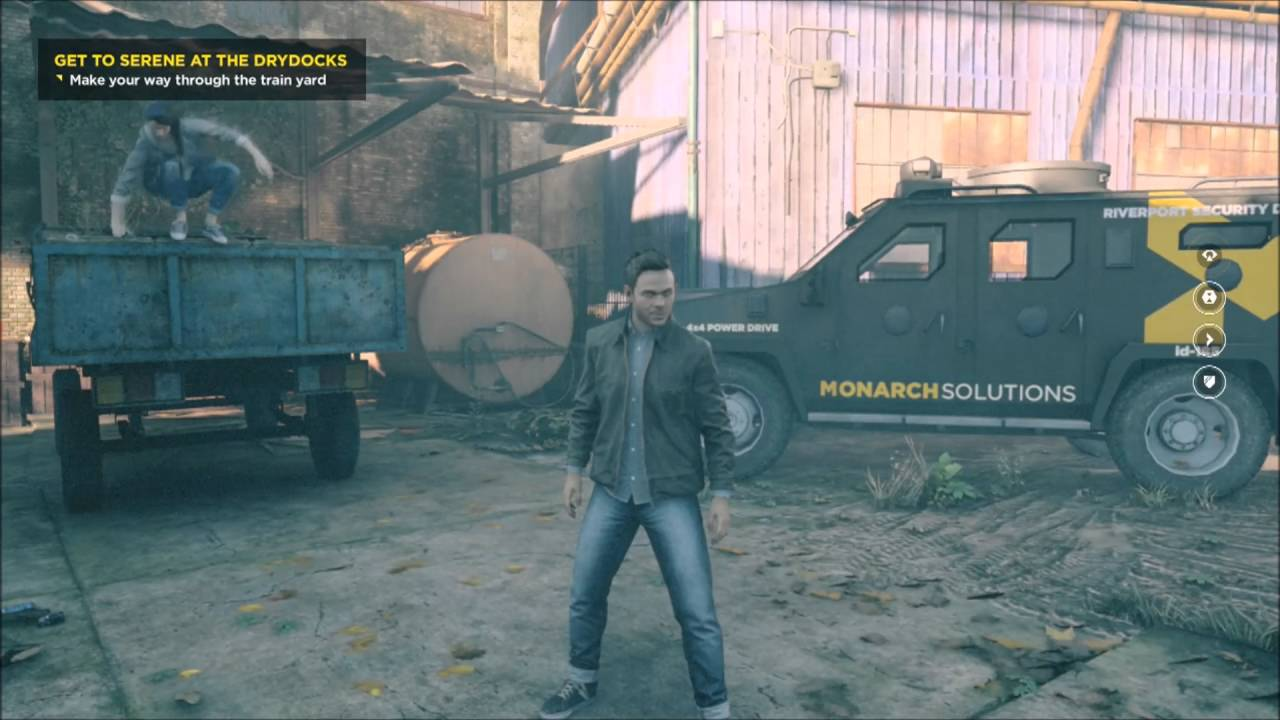 Quantum Break How to Open the Gate Get to Serene at Drydocks