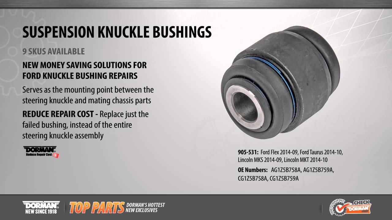 Suspension Knuckle Bushing Youtube