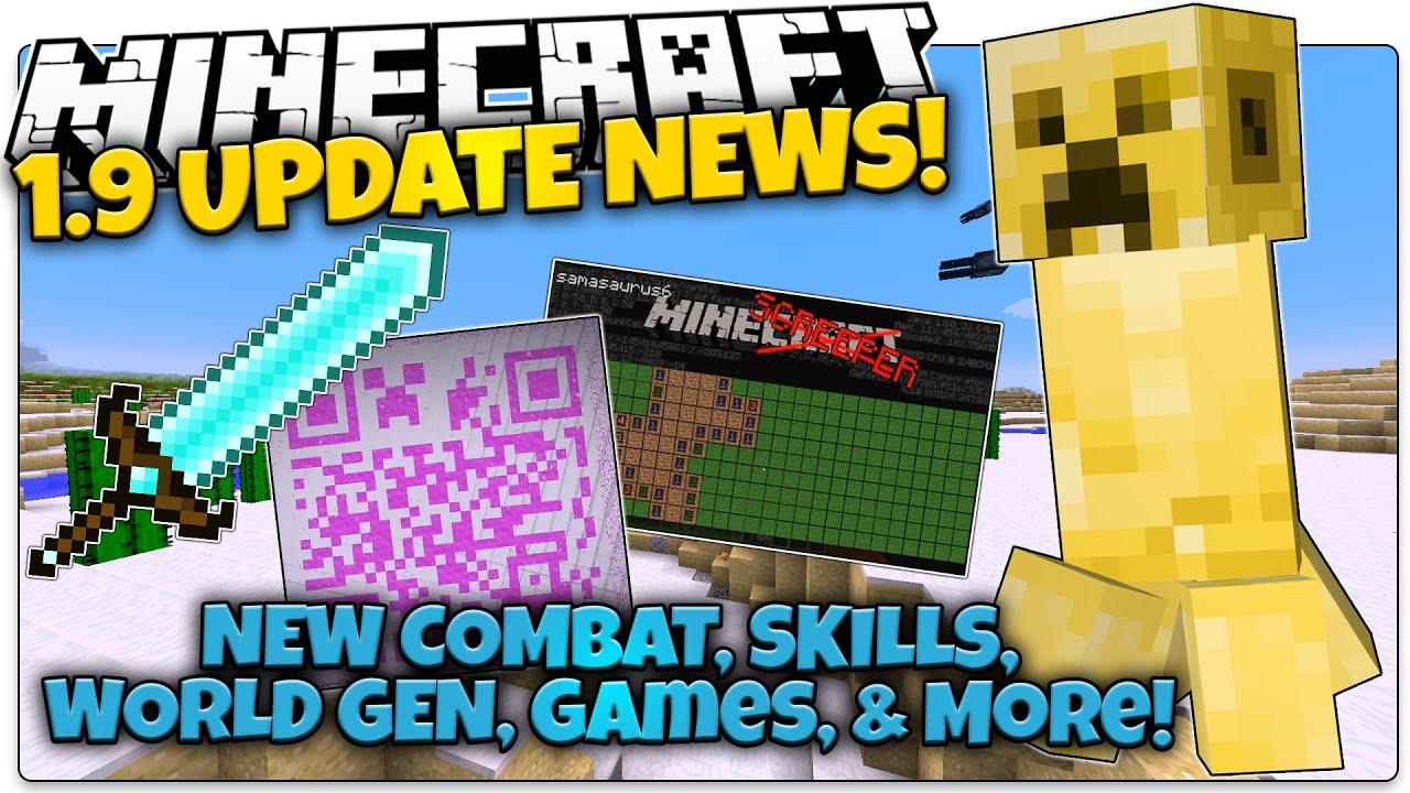 Minecraft 1 9 News Golden Creeper New Combat April