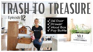 Trash to Treasure Projects  Trash to Treasure Episode 12  DIY Decor  Repurposed Home Decor