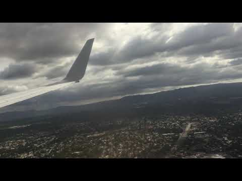 Landing In Managua, Nicaragua From Miami On American Airlines (AA1429) Boeing 737-800