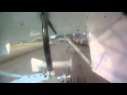 Brandon Collins Heat Race In car Camera at Plaza Park Raceway 5-13-11