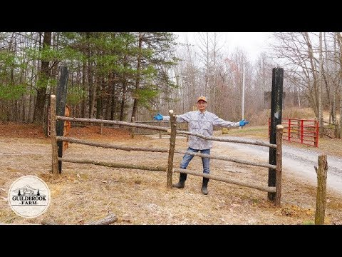 Making Rustic Wood Fence From Black Locust