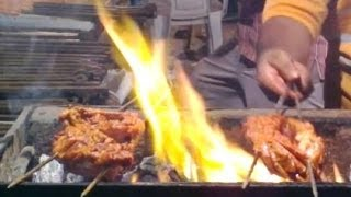 Chicken Tandoori Barbeque (bbq) - The Indian Desi Style | Mumbai Street Food India | 2014 | [hd]