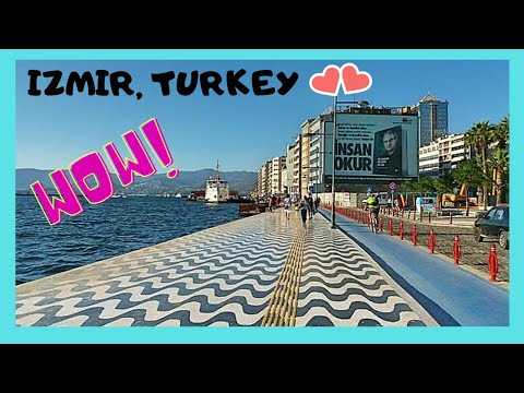 IZMIR, walking on the magnificent WATERFRONT, top attractions (TURKEY)