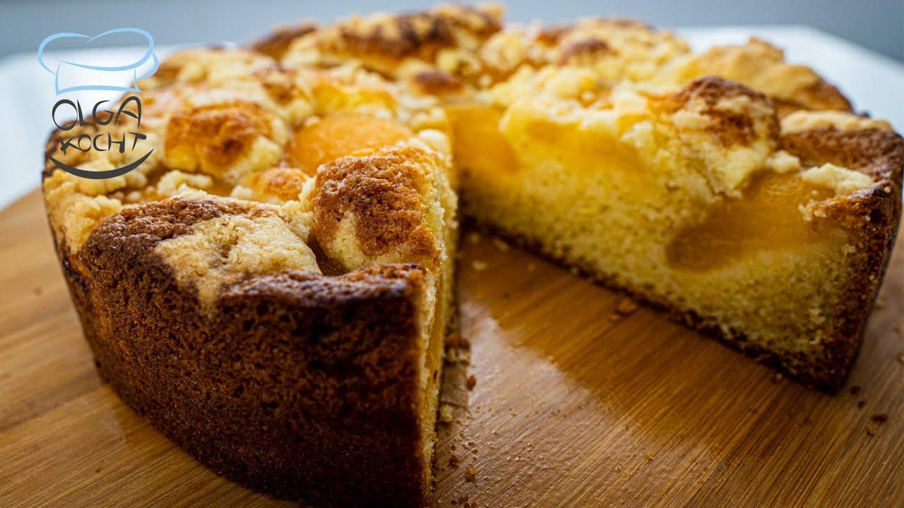 Fluffiger Aprikosen Kuchen in der Springform - Leicht und Einfach