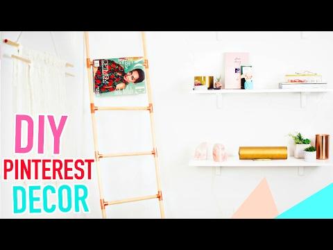 3 DIY Pinterest Room Decor & Organization Ideas! budget diy tumblr