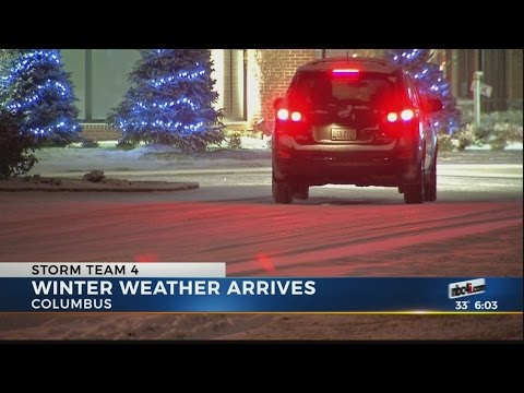 Winter weather arrives in Columbus
