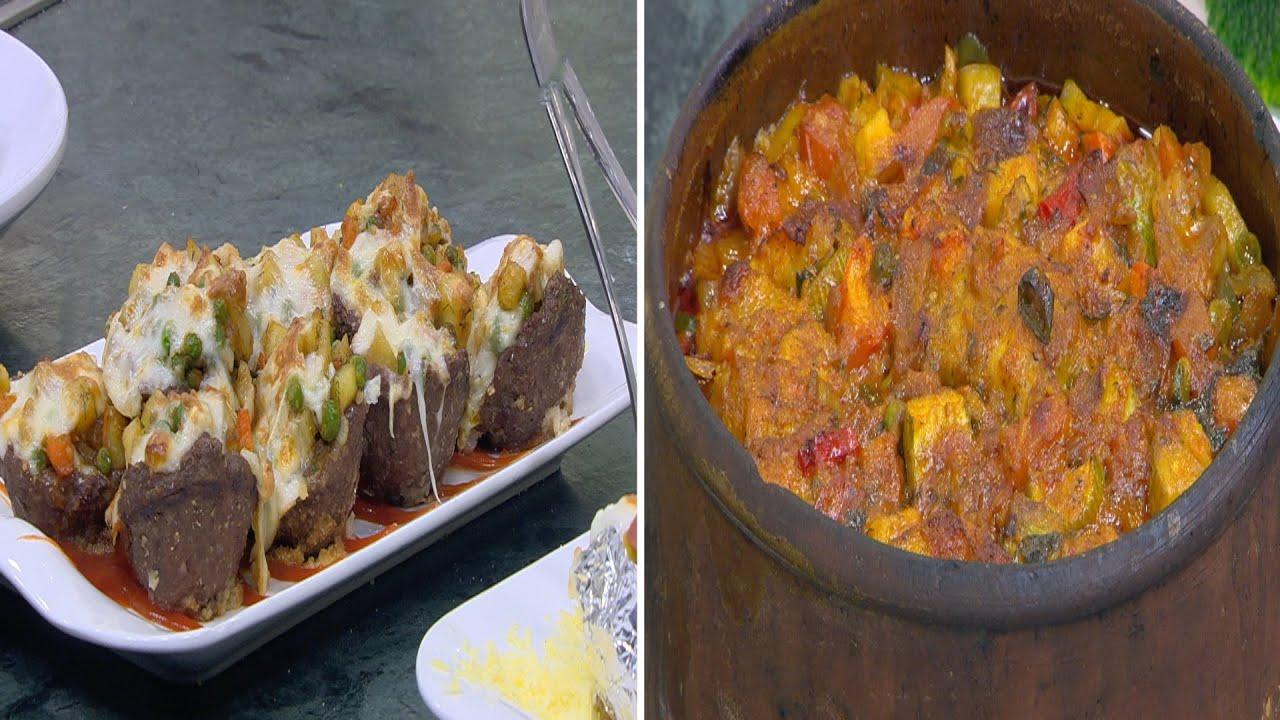 يخني سمك بالخضروات  - أكواب اللحم المحشية ووصفات أخرى : الشيف الحلقة كاملة