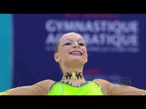 HIGHLIGHTS   2014 Acrobatic Worlds, Levallois Paris FRA   Women's Groups   We are Gymnastics!