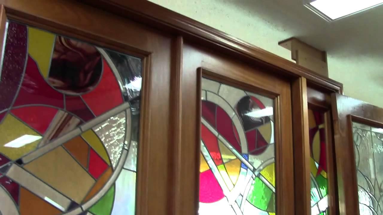 Foyer Bonfire Locked Door : High door art glass tampa custom front entry and